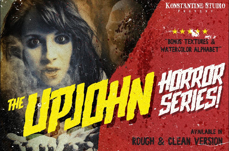 Upjohn Halloween Brush Horror Font – Konstantine Studio